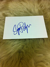RODRIGUE Blue Dog George Rodrigue Signed Index Card Beautiful and Very RARE  #3