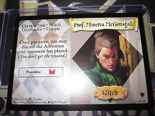 HARRY POTTER TCG QUIDDITCH CUP PROF.MINERVA MCGONAGALL 21/80 RARE ENGLISH MINT