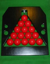 PRO TOURNAMENT STYLE REFEREES SNOOKER TRIANGLE TABLE BALL RACK  2nds quality
