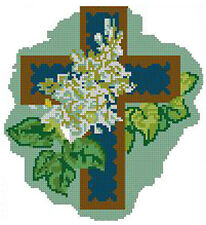 "Religious Cross 2 Counted Cross Stitch Kit 7.5"" x 7"" Religion"