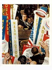 Norman Rockwell Print Jfk A Time For Greatness