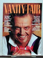 April 1994 VANITY FAIR Magazine-JACK NICHOLSON- NO LABEL/BAR CODE (L6684)