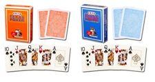 Orange Light Blue Modiano 100% Plastic Playing Cards Poker Size Jumbo Index New