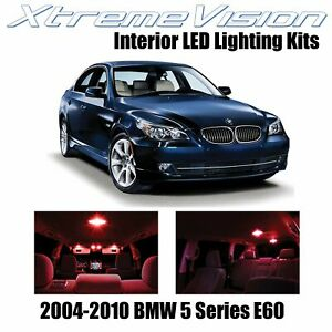 XtremeVision Interior LED for BMW 5 Series E60 2004-2010 (17 PCS) Red