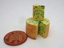 1:12 Scale  Stilton Cheese Wheel Dolls House Miniature Food Dairy Accessory