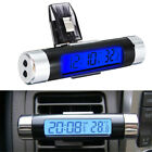 Auto Car Universal Thermometer Electronic Time Gauge Lcd Digital Display Clocks