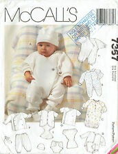 BABY'S LAYETTE for STRETCH KNIT FABRICS ~ McCALL'S 7367 NB to LG