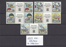Czechoslovakia 1977 MNH **Mi 2396-2400 Zf Sc C89-C93 AIR POST History o aviation