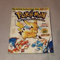 ROUGH COND Pokémon YELLOW/RED/BLUE Nintendo Power Strategy Guide Players OEM