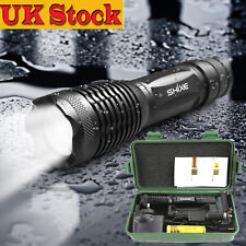 NEW Police LED Flashlight Tactical 8000LM XML-T6 Zoomable Zoom Torch Lamp UK-02D