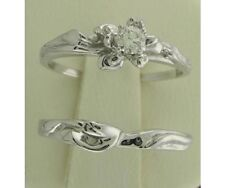 NEW GENUINE Diamond Floral Design Engagement Ring Set Size 8