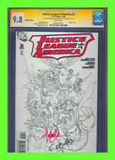 Justice League of America #2 CGC 9.8 SS Sketch Variant Michael Turner Ed Benes