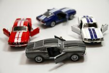"Set of 4: Kinsmart 5"" 1967 Shelby GT-500 Ford Mustang Diecast Model Toy Car 1:38"