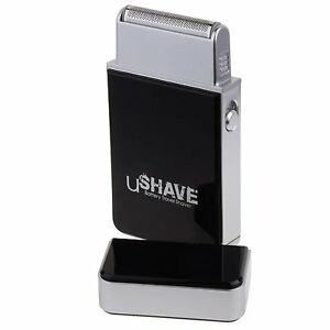 BATTERY SHAVER TRAVEL SHAVER LIGHTWEIGHT MODERN DESIGN WITH MINI CLEANING BRUSH