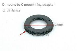 D movie mount to C Bolex ring adapter NEW with flange stop