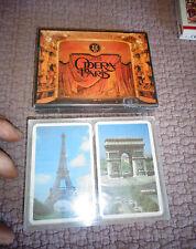 2 Jeux de Cartes l'Opéra de Paris et Belote dos Tour Eiffel Arc de Triumph