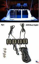 White LED Boat Light Deck Waterproof Bass Night Pontoon Trailer HouseBoat