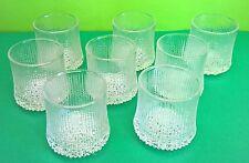 8 Bicchieri vetro design TAPIO WIRKKALA Finlandia vintage Littala iittala ittala