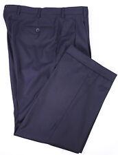 * BRIONI * Recent Solid Navy Blue Pleated Super 180's Wool Dress Pants 33 x 28