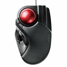 ELECOM TRACK BALL MOUSE WIRED OOTAMA 8 BUTTON TILT FUNCTION BLACK FROM JAPAN