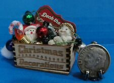 Dollhouse Christmas crate with Dreamsicies angel ornament plus accessories #1