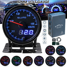2'' 52mm Car Voltmeter Dual Digital & Pointer Led Voltage Gauge Volt Meter 12v