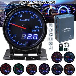 2'' 52mm Car Voltmeter Dual Digital & Pointer Led Voltage Gauge Volt Meter