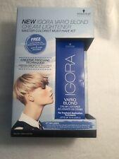 NEW Igora Vario Blond Cream Lightener Kit Master Colorist Lightener Conditioner