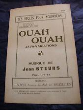 Partition Ouah Ouah Java Variations Jean Steurs Music Sheet