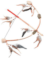 Deluxe Feathered Bow & Arrow Robin Hood Cowboys & Indians Fancy Dress Accessory