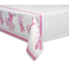 PINK BALLERINA PLASTIC TABLE COVER ~ Birthday Party Supplies Decoration Cloth