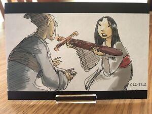 POSTCARD-UNUSED DISNEY MULAN, c. 1998- FA MULAN PRESENTS HER SWORD
