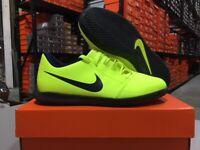 Nike Junior Phantom Venom Club IC Soccer Shoes (Volt/Black) Size: 10c-6y NEW!