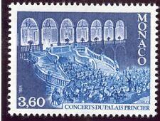 TIMBRE DE MONACO N° 1429 ** ORCHESTRE PHILHARMONIQUE DANS LA COUR D'HONNEUR