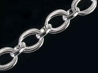 925 ECHT SILBER RHODINIERT *** Oval Armband Armkette 19 cm