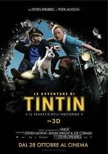 THE ADVENTURES OF TINTIN: THE SECRET OF THE UNICORN Movie Promo POSTER Italian D