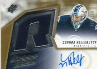 CONNOR HELLEBUYCK 2015-16 UPPER DECK SPX NHL ROOKIE FABRIC AUTO RC #ed 137/399