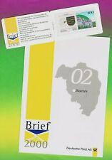 Amtliche Portocard BAUTZEN Brief 2000 mit Sachsen-SM Briefzentrum Bautzen **!