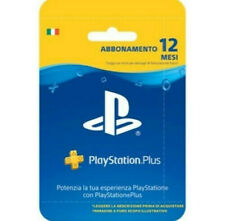 Sony PlayStation Plus Carta d'Abbonamento per 12 Mesi! (Leggere la descrizione)