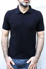 Hugo Boss Auth Pima Cotton Short Sleeved Polo Top Cotton Auth Black S Very GOOD