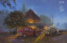 Dave Barnhouse CHEVY LENDS A HAND Limited Edition Print - Chevy and Ford Pickups