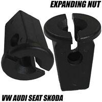 10x Clips For VOLKSWAGEN AUDI SEAT SKODA 8mm EXPANDING LOCK NUT GROMMET TRIM