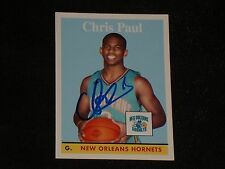 CHRIS PAUL 2008-09 TOPPS NBA SIGNED AUTOGRAPHED CARD #1 NEW ORLEANS HORNETS
