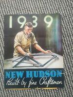 1939 New Hudson Catalogue, Vintage Bicycle Catalogue