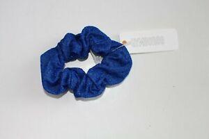Gymboree Sparkle Scrunchies  Hair Bows Ponytail Royal Blue  NEW NWT