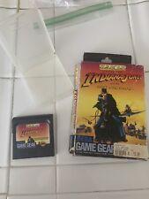 Sega Game Gear Us Gold Indiana Jones And The Last Crusade Video Rare Box