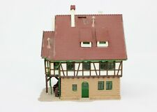 "N Scale Vollmer Pre-Built Half-Timbered Building Approx 3.75 x 2.5 x 4.25"" #302"