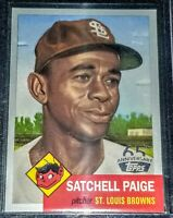 2016 Satchel Paige St.Louis Browns Topps Silver 65th Anniversary 1953 Design