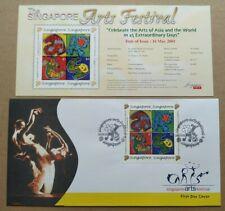 Singapore 2001 Arts Festival 4v Stamps FDC 新加坡邮票首日封 --- 艺��节
