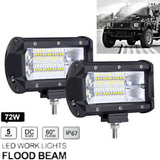 2pc 72W White LED Work Light Flood Driving Fog Lamp for Jeep Truck Boat Offroad